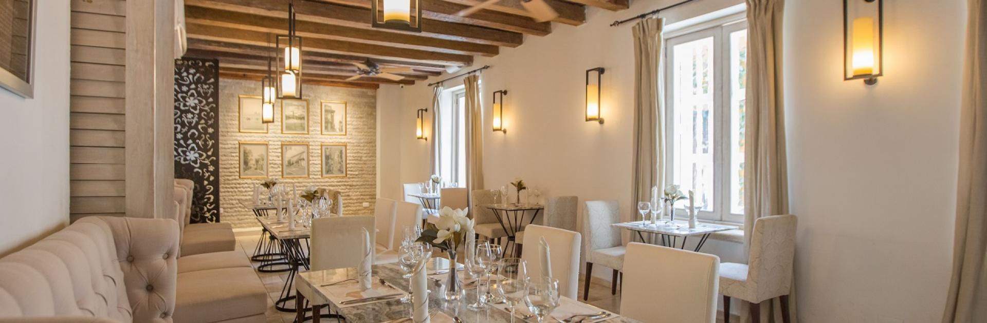 Restaurante Di Cielo en el Hotel Casa Canabal, participante de Dónde Restaurant Week 2019 en Cartagena de Indias